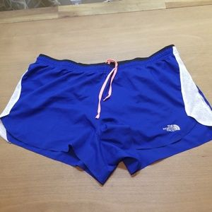 North Face flight series lined running shorts LG
